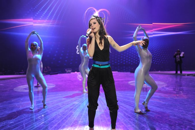 Lenas erste Probe beim Eurovision Songcontest (Foto: Alain Douit (EBU))