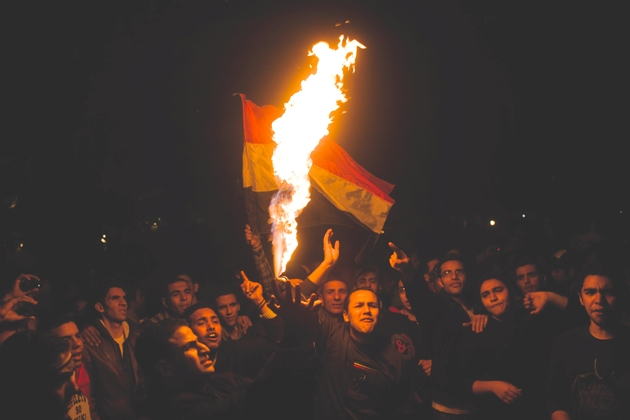 Dominic Nahr: Kairo. 12. Februar 2011.
